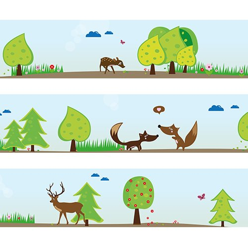 "Wandkings Bordüre""Waldtiere"" Länge: 450 cm, selbstklebend, für's Kinderzimmer"