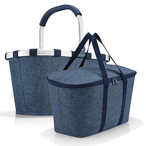 Set aus reisenthel carrybag BK + reisenthel coolerbag UH, Einkaufskorb mit passender Kühltasche, Twist Blue