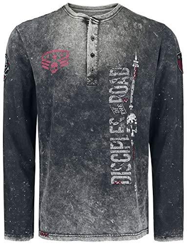 Rock Rebel by EMP Through The Glass Homme T-Shirt Manches Longues Gris foncé 4XL
