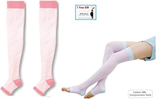 460fe9ef671 Yoga Sleep Thigh-High Slimming Compression Toeless Sock Stocking + Small  Gift