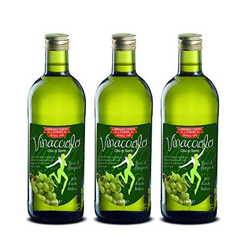 Olio di Vinacciolo Olio Costa - 3 Bottiglie da 1l