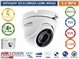 Hiwatch - Cámara Dome 4 en 1 4 Mpx 2,8 mm Serie Hiwatch Hikvision Metal, Blanco