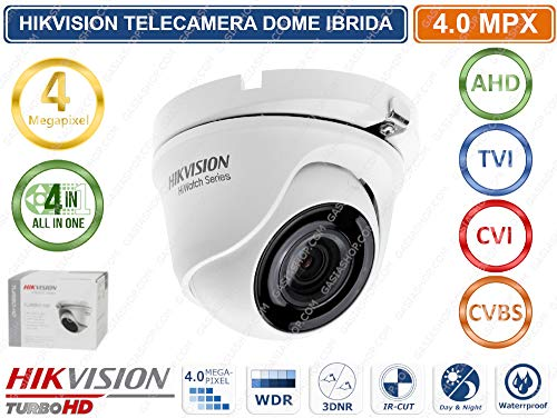 Hiwatch Telecamera Dome 4In1 4Mpx 2.8Mm Serie Hiwatch Hikvision Metal, Bianco