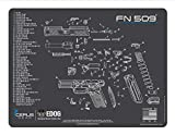 EDOG FN509 Cerus Gear Schematic (Exploded View) Heavy Duty Pistol Cleaning 12x17 Padded Gun-Work Surface Protector Mat Solvent & Oil Resistant