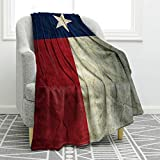 Jekeno Texas Flag Throw Blanket Comfort Warmth Vintage Print Blanket for Couch Bed Chair Office Sofa 50'x60'