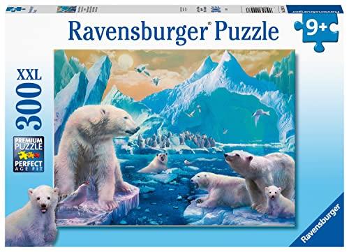 Ravensburger Kinderpuzzle - 12947 Im Reich der Eisbären - Tier-Puzzle für Kinder ab 9 Jahren, mit 300 Teilen im XXL-Format