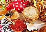 WQEFFTRW HD Alimentos Panqueques Bagels Secado Crema Agria Caviar Mermelada roja 1000 Rompecabezas Juguetes educativos para niños Desafío Brainpower Rompecabezas de Madera