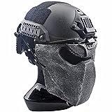 AQzxdc Máscara Protectora Berserker Airsoft, con Juegos de Casco Táctico, para Halloween Paintball...