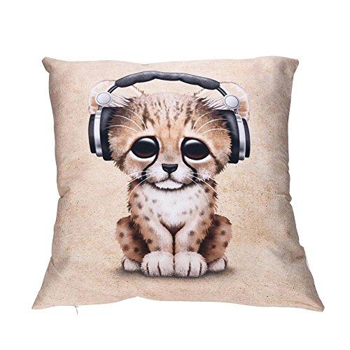Squarex Impression Pets Taies d'oreiller de voiture de canapé Polyester Housse de coussin Home Decor
