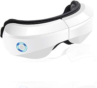 ماساژور برقی چشم با حرارت ، فشرده سازی هوا ، لرزش و موسیقی ، ماساژور بی سیم چشم و تمپل برای رفع خشکی چشم ، خستگی چشم ، بهبود گردش خون و کیفیت خواب