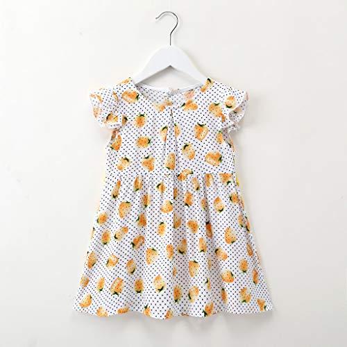 Janly Clearance Venta Vestido de niña para niños de 0 a 10 años de edad, bebé niña de punto floral...