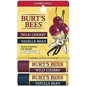 Burt's Bees 100% Natural Lip Balm, Wild Cherry and Vanilla Bean Blister Box, 0.3 Ounce, 2 Count