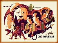 ポスター トム ウェイレン Ghostbusters ゴーストバスターズ 限定375枚 手書きナンバリング入り 額装品 ウッドベーシックフレーム(オレンジ)