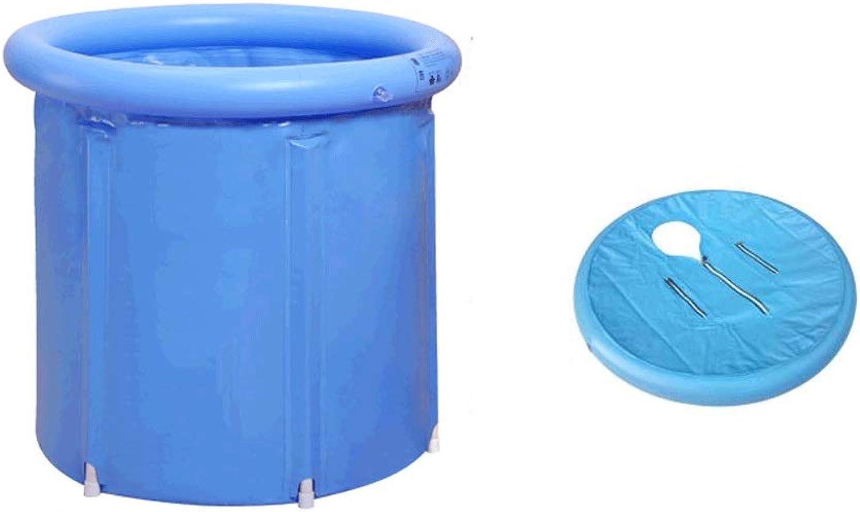 Folding bathtub Portable Bathtub, Folding Bathtub With Thermal Cover, Plastic Bathtub, Spa Bath, Jacuzzi bluee bluee 3 Size (Size   65  70cm)