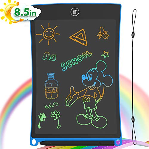 GUYUCOM 8.5-Inch LCD Writing Tablet Colorful Screen Doodle Board Electronic Digital Drawing Pad with Lock Button for Kids Adults (Blue)