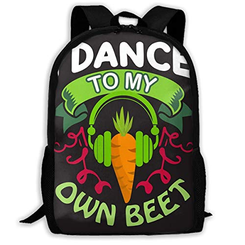 School Backpack Vegan Quote I Dance to My Own Beer Bookbag Casual Travel Bag for Teen Boys Girls