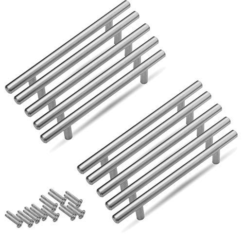 Aufun Möbelgriffe 160mm Edelstahl Gebürstet 20 Stück Küchengriff Türgriff Schubladegriff aus Gebürsteter Silber Ø 10 mm, Gesamtlänge: 250 mm