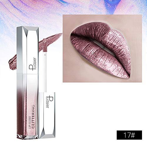 Vovotrade Lip Gloss, Starry Night, Starry Glanz Lip GlossWaterproof Langlebige Flüssigkeit Polarisieren Licht Lippenstift Make-Up Lipgloss Lip (H1)