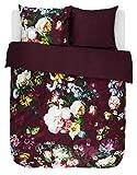ESSENZA Bettwäsche Fleur Blumen Pfingstrosen Tulpen Baumwollsatin Rot
