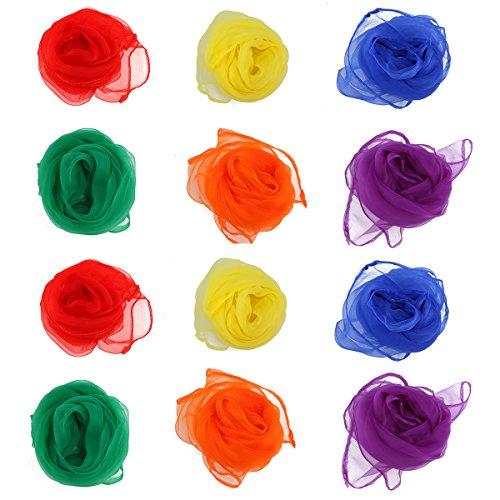 Pixnor Rythme foulards Rhythm Band grand Multi-Color (Pack de 12)