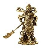 YHDP Feng Shui Figura De Buda Figurilla,Latón Riqueza Paz Bodhisattva Escultura Estatuilla,Casa Oficina Decoración Proceso Regalo-Bronce a 7.1inch