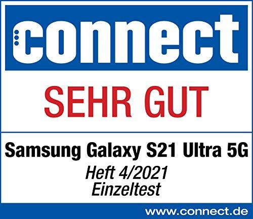 Samsung Galaxy S21 Ultra 5G, Android Smartphone ohne Vertrag, Quad-Kamera, Infinity-O Display, 128 GB Speicher, leistungsstarker Akku, Phantom Black - 8