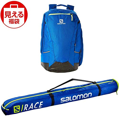 SALOMON(サロモン) スキーバッグセット エクステンド1本入れ 155cm+20 ブルーイエロー & ゴートゥスノー ギアバック 50L ブルー