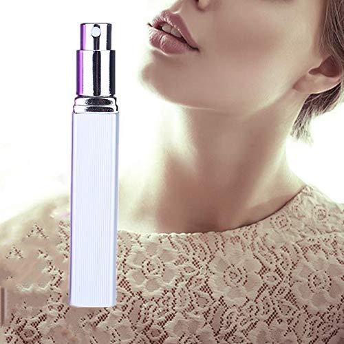 Openg Vaporizador Perfume Recargable Atomizador Recargable Fragancia Botella vacía Botellas de Viaje Viaje Mini portátil saliente Silver