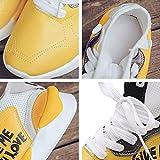 Chaussure de Foot Chaussures de Foot Chaussure de Foot Chaussettes de Foot Bottes de Foot Pour Dames Bottes de Course Bottes de Sport Pour Marche Running Gym, BY, Jaune, 35