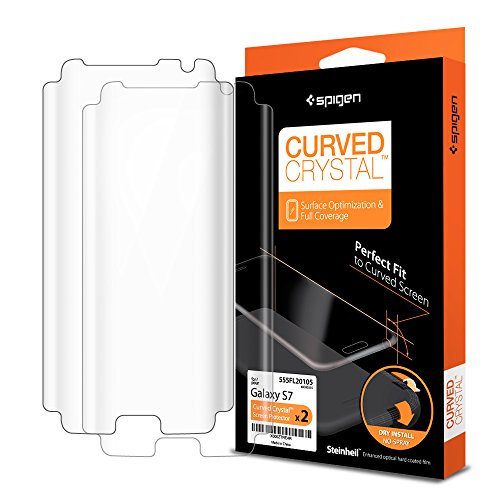 Spigen Curved Crystal Galaxy S7 Screen Protector with Ultra Clear Film 3 Pack for Samsung Galaxy S7