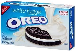 Nabisco, Oreo, White Fudge Covered, Limited Edition, 8.5oz Box (Pack of 2)