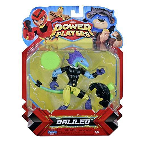 Power Players, Figurine Articulée 12 cm, Galileo, 10 points d'articulation & Accessoires, Jouet pour enfants dès 4 ans, PWW012