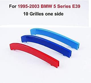 DBL 3ColorsKidneyGrillesInsertTrimCoverfor BMW 5 Series E39 520i 525i 528i 530i 540i 550i 1995-2003 MotorsportStripsGrill1Set (10 Grille)