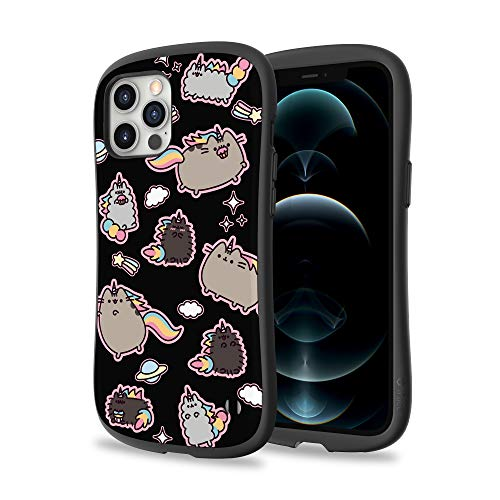 iFace x Pusheen First Class Designed for iPhone 12 Pro Max (6.7') – Cute Shockproof Dual Layer [Hard Shell + Bumper] Phone Case – Pusheen Icon (Black)