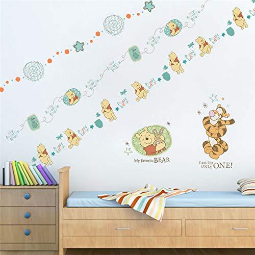 TYOLOMZ Disney Winnie L'Ourson Stickers Muraux Pour Les Chambres D'enfants Pépinière Décor À La Maison Animaux de Bande Dessinée Autocollant Mural Bricolage Art Pvc Affiche