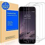 GeekerChip Vetro Temperato Compatible for iPhone 6/6S Pellicola Protettiva[3 Pack], Pellicola Protettiva Schermo in Vetro Temperato Compatible for iPhone 6/6S