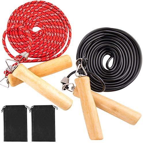 KONUNUS 2 Stück Springseil Baumwolle Skipping Rope, Seilspringen Anti-Rutsch Griffen, für Kinder und Erwachsene, Crossfit, Sport Training, Fitness, Abnehmen