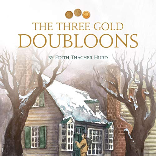 The Three Gold Doubloons audiobook cover art