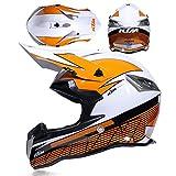 DLMYZ Adult Motocross Motorcycle Offroad Full Helmet Unisex Road Race Motorbike Helmet Dual