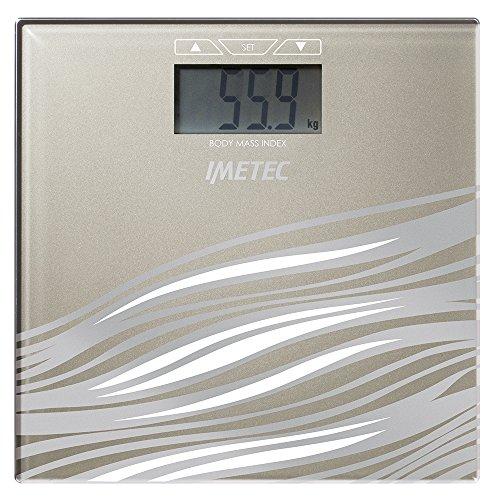 Imetec BM3 300 Bilancia Pesapersone Elettronica, Calcola l'indice di massa corporea, beige, lcd