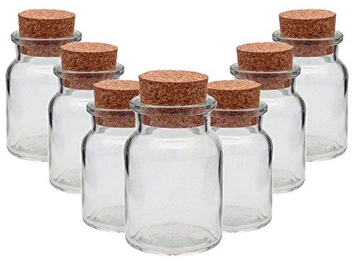 Gewürzgläser Set mit Press-korken | 10 teilig | Füllmenge 150 ml | Rund Hochwertiges Glas | Glasdose Glasgefäß ideal für Salz Pfeffer Sonnenblumenkerne kürbiskerne Kandis Bonbons