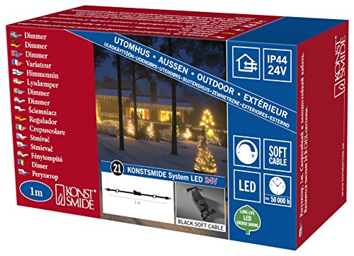 /007/LED Hightech System//distribuci/ón de 1/entrada//2/salidas//para exterior IP44 //Negro Soft de cable Konstsmide 4802/