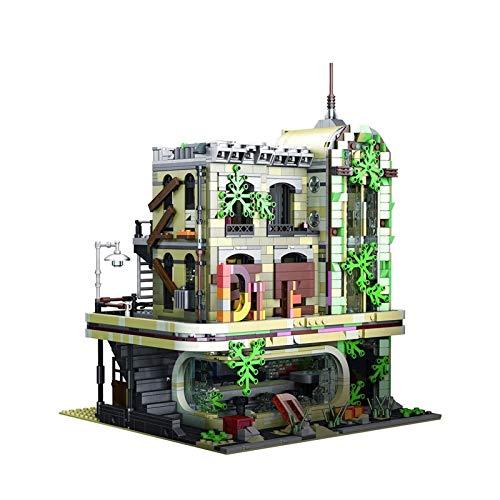 UNU_YAN Modern Simplicity Ruins Restaurant Architecture Blocks Blocks Set, Compatible con Lego House Building Set - DIY City House Construction Toy (2392 PCS)