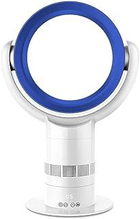 f Ventilador silencioso Sin Aspas,con Control Remoto Ventilador de Torre Oscilante,Eficiencia EnergéTica Mudo/azul/A