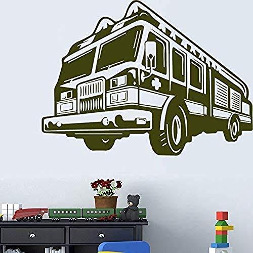 Muurstickers Art Decal Vinyl Murals Design Bus voor Kinderkamer Verwijderbaar 43X31cm
