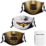 3 Packs Men's Halloween Mask, Adjustable and Reusable, Horror Movie Face Cover for Youth and Adult
