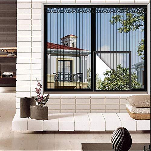 Générique Moustiquaire de Porte avec Aimants, Moustiquaire Comfort pour Lucarne, avec Protection Anti-UV, (Noir, Beige, Marron)