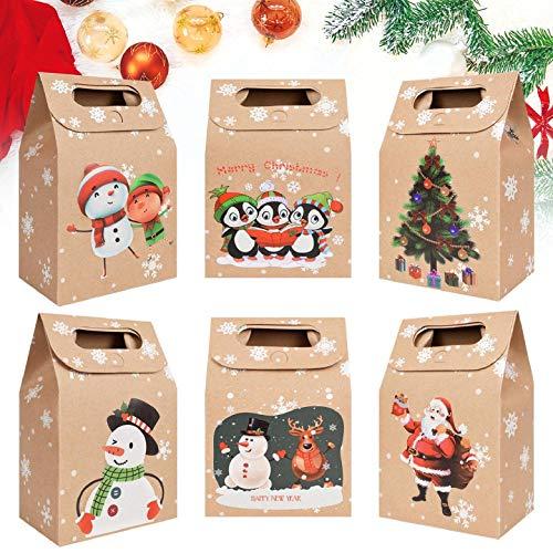 Yuson Girl Geschenk Papiertueten Adventskalender Weihnachtselemente zum Befüllen DIY Festival Geschenksäckchen Jutesäckchen Bastelset mit Weihnachtsfunktion Wiederverwendbare Wohnkultur