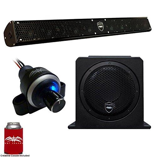 "Wet Sounds Stealth 10 Surge Sound Bar w/WW-BTVC Bluetooth Volume Controller and AS-10 10"" 500 Watt Powered Subwoofer"