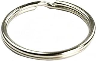 Ocharzy Silver Steel Round Edged Keychain Keyrings (2 Inches, 100 PCS)